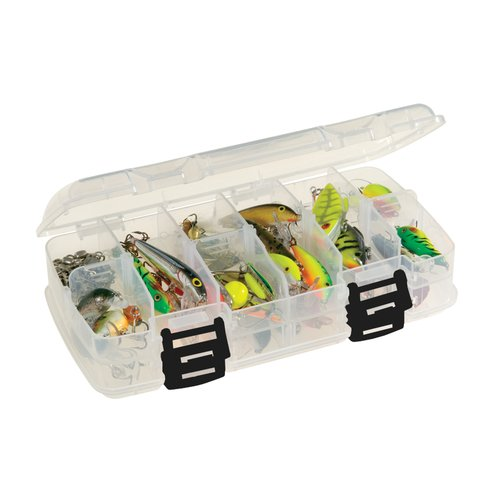 Plano Fishing Adjustable Double-Sided Stowaway Tackle Box, Clear 3400
