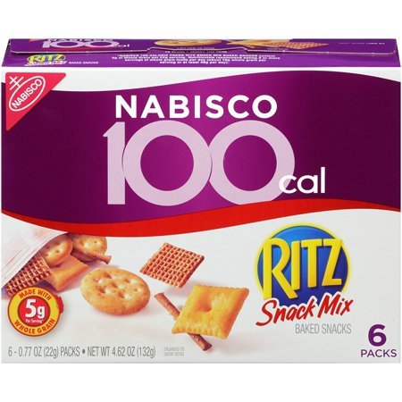 Nabisco 100 Calorie Packs Ritz Snack Mix, 4.62 Oz (Innerpack of 6)