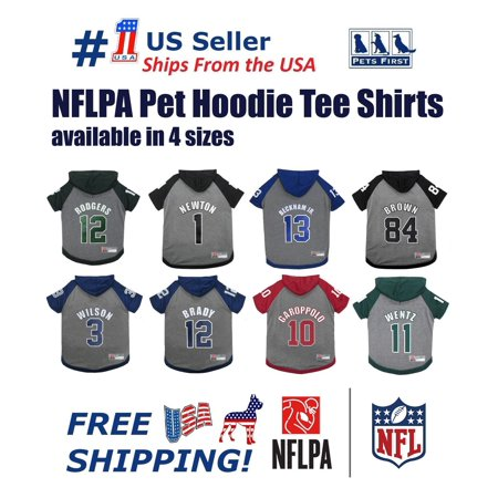 Pet Hoodie T-shirts - Pets First NFLPA Carson Wentz Hoodie T-Shirts PET GEAR for DOGS & CATS - Licensed