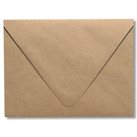 Contour Euro Flap Kraft Grocery Bag Brown 50 Boxed A7 -70lb Envelopes (5-1/4 x 7-1/4) for Invitations Announcements Weddings by The Envelope - Wedding Envelope Box