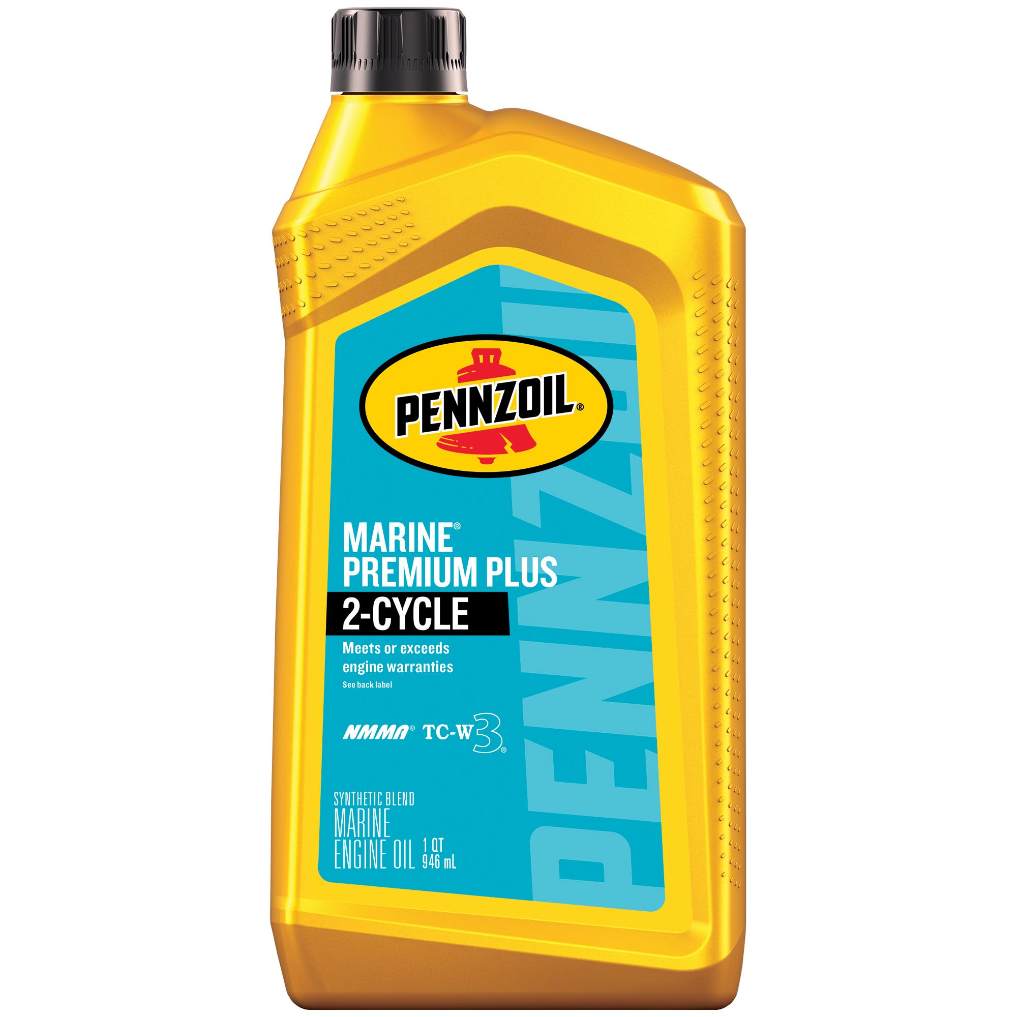 PENNZOIL MARINE PREMIUM PLUS 2-CYCLE SYNTHETIC BLEND OIL, 1-quart