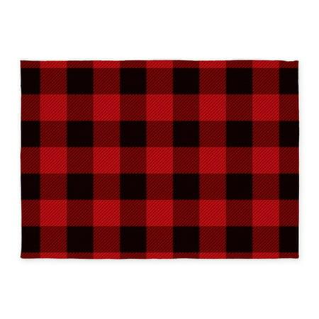 CafePress - Cottage Buffalo Plaid Lumberjack - 5'x7'Area (Cottage Hooked Rug)
