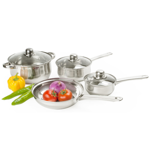 Alpine Cuisine 7-Piece Stainless Steel Cookware Set by