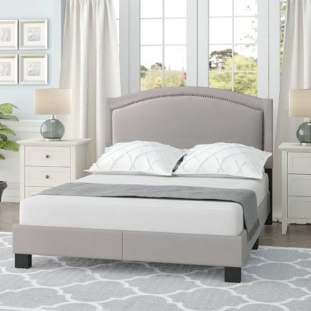 Charlton Home Carrollton Queen Upholstered Panel Bed