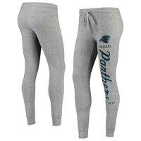 Women's Gray Carolina Panthers Academia Cuffed Pants