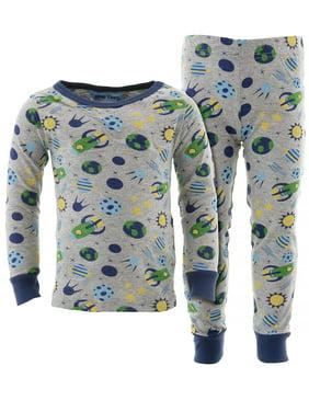 Dead Tired Boys Spaceships Gray Cotton Pajamas