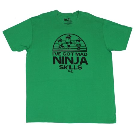 Fruit Ninja (Hit Game Ap) Mens T-Shirt  - Ive Got Mad Skills! Fruit Ninja S