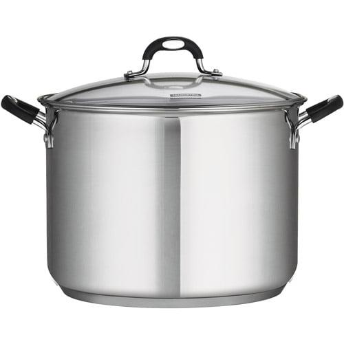 Olla O Sarten Tramontina Stainless Steel 16-Quart Covered Stock Pot + Tramontina en VeoyCompro.net