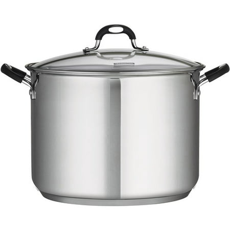 Tramontina 16 Quart Stainless Steel Covered Stock Pot Burnt Stainless Steel Pot