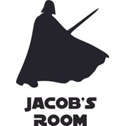 Darth Vader Star Wars Character Design Customized Wall Art Vinyl Decal - Custom Vinyl Wall Art - Personalized Name - Baby Girls Boys Kids Bedroom Decal Room Wall Sticker Decoration Size (40x35 inch)