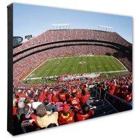 """Kansas City Chiefs 20"""" x 24"""" Stadium Canvas - No Size"""