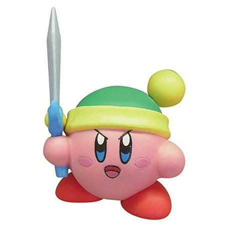 Takara TOMY A.R.T.S Kirby's Adventure Deluxe Battle Royale Manmaru Mini Figure Mascot - Link Kirby w/ Sword ()