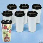 Do It Yourself Travel Mug 6 Pc - Craft Kits - 6 Pieces