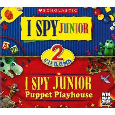 I Spy Jr & I Spy Junior Puppet Playhouse ~ 2 CDRom Pack ~ From