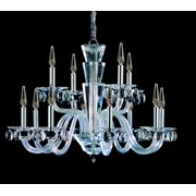 Allegri 11528 Chrome with Clear Crystals Shorecrest 12 Light 32-1/