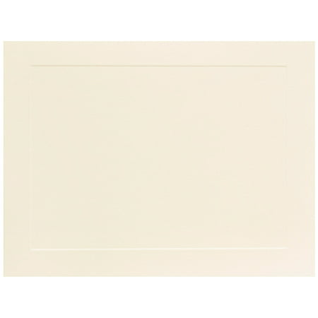 Ivory Flat Card - JAM Paper Flat Note Cards, 5 1/8