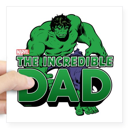 CafePress - The Incredible Dad Square Sticker 3