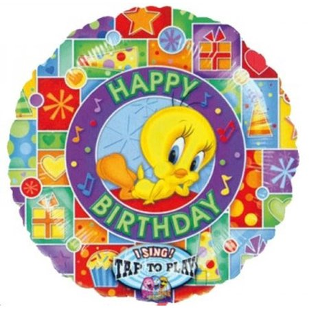 Tweety 'Happy Birthday' Singing Foil Mylar Balloon - Singing Balloon