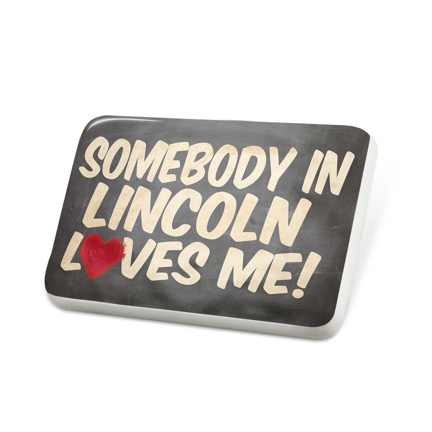 Porcelein Pin Somebody in Lincoln Loves me, England Lapel Badge – NEONBLOND