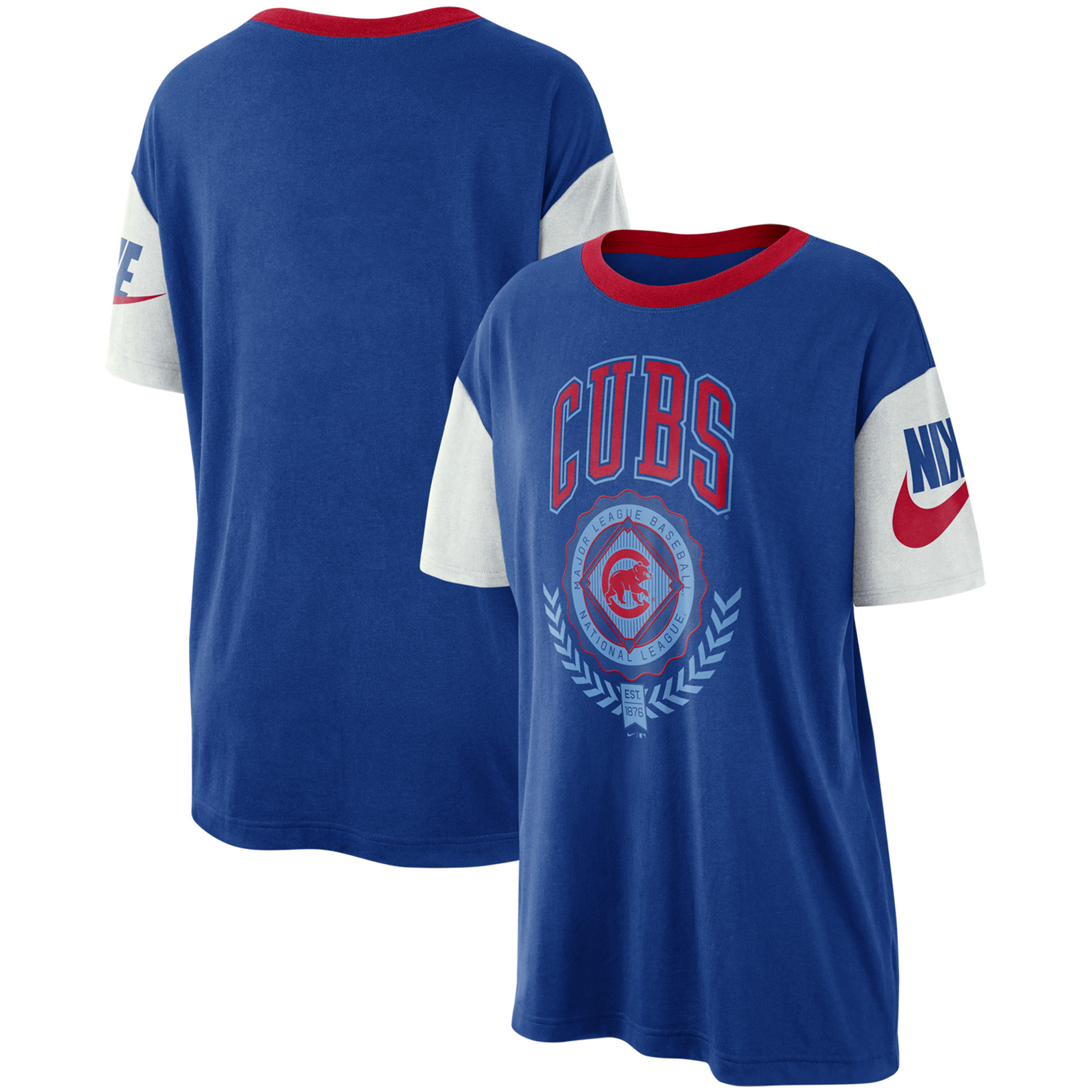 Chicago Cubs Nike Women's Walk-Off Boycut T-Shirt - Royal