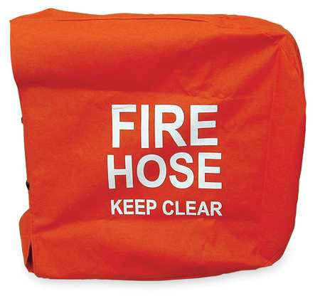 MOON AMERICAN 138-7 Fire Hose Cover, 25 In.L, 25 In.W, Red