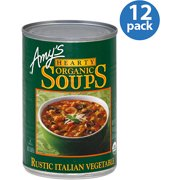 Amy's Rustic Italian Vegetable Hearty Organic Soup, 14 oz, (Pack of 12)