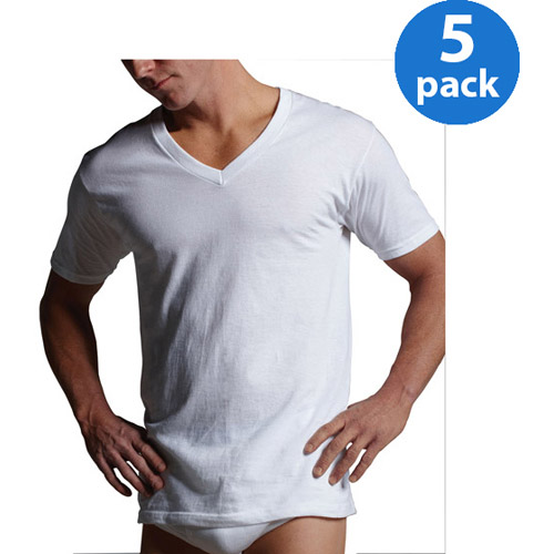 Gildan Men's Short Sleeve V-neck T-shirt 5 Pack