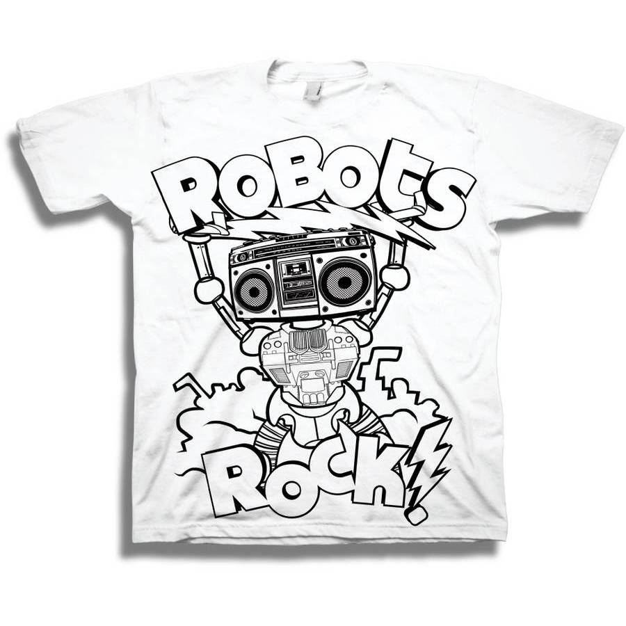 Boys' Assorted Licensed DIY Color Me Graphic Tee