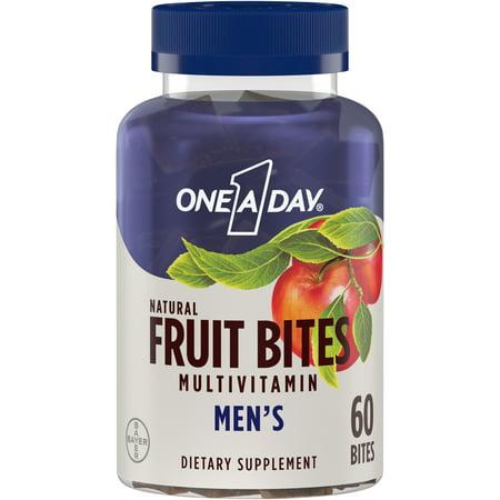 One A Day Men's Fruit Bites, Multivitamins for Men, 60 Ct