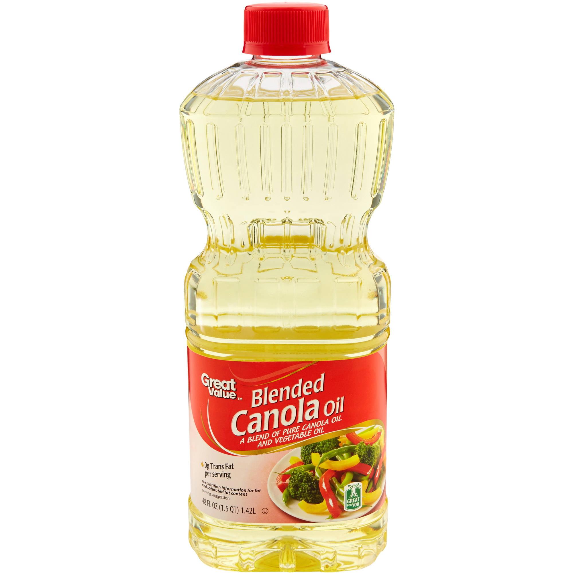 Great Value: Blended Canola Oil, 48 oz