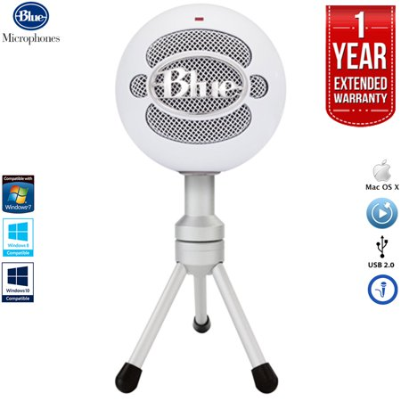 Blue Microphones Snowball iCE Versatile USB Microphone - White with 1 Year Extended