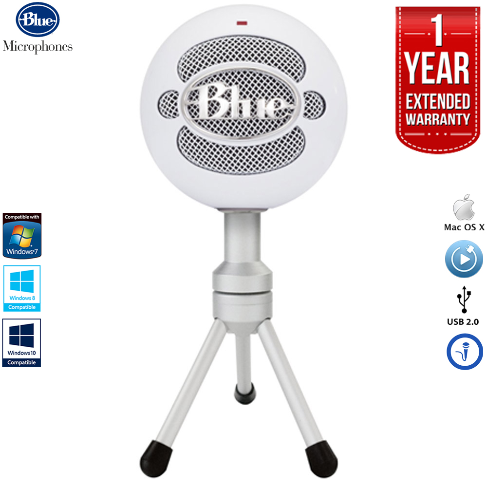Blue Microphones Snowball iCE Versatile USB Microphone - White with 1 Year Extended Warranty