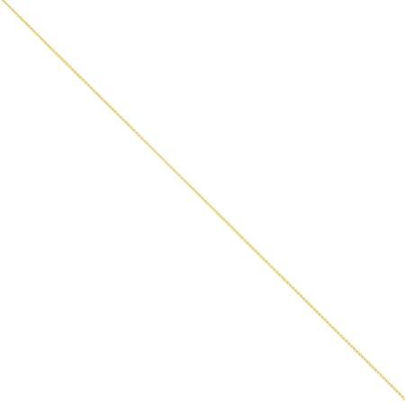 14K Yellow Gold 1 Mm Wide Solid Polished Spiga  Wheat  Chain Bracelet