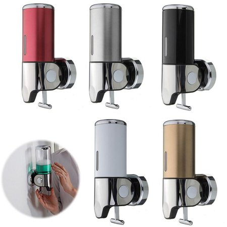 500ml Modern Wall Mounted Liquid Pumps Liquid Soap Gel Shampoo Dispenser Bathroom Washroom Shower Body Lotion Shampoo Liquid Soap Dispenser Lotion Pump (Collection Gel Dispenser)
