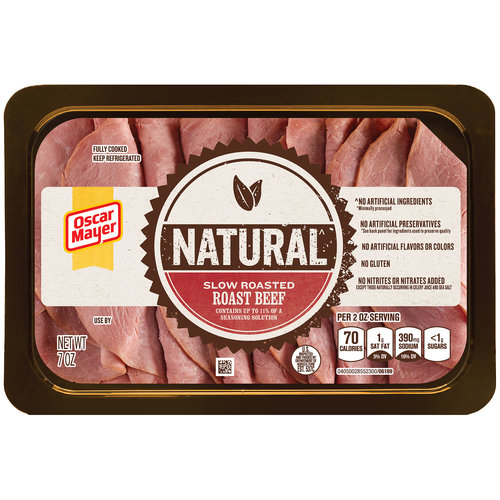 Oscar Mayer Natural Slow Roasted Roast Beef Cold Cuts, 7 oz