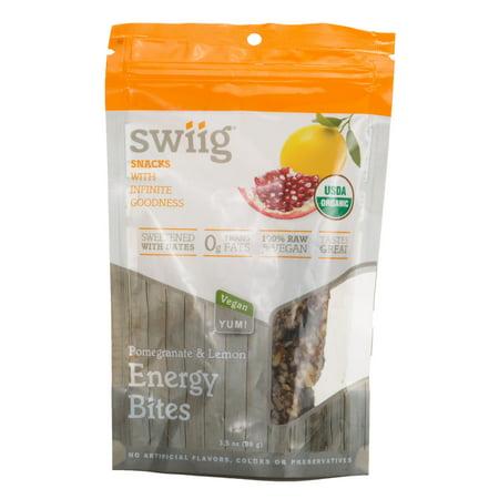 swiig Organic Lemon Pomegranate Energy Bites
