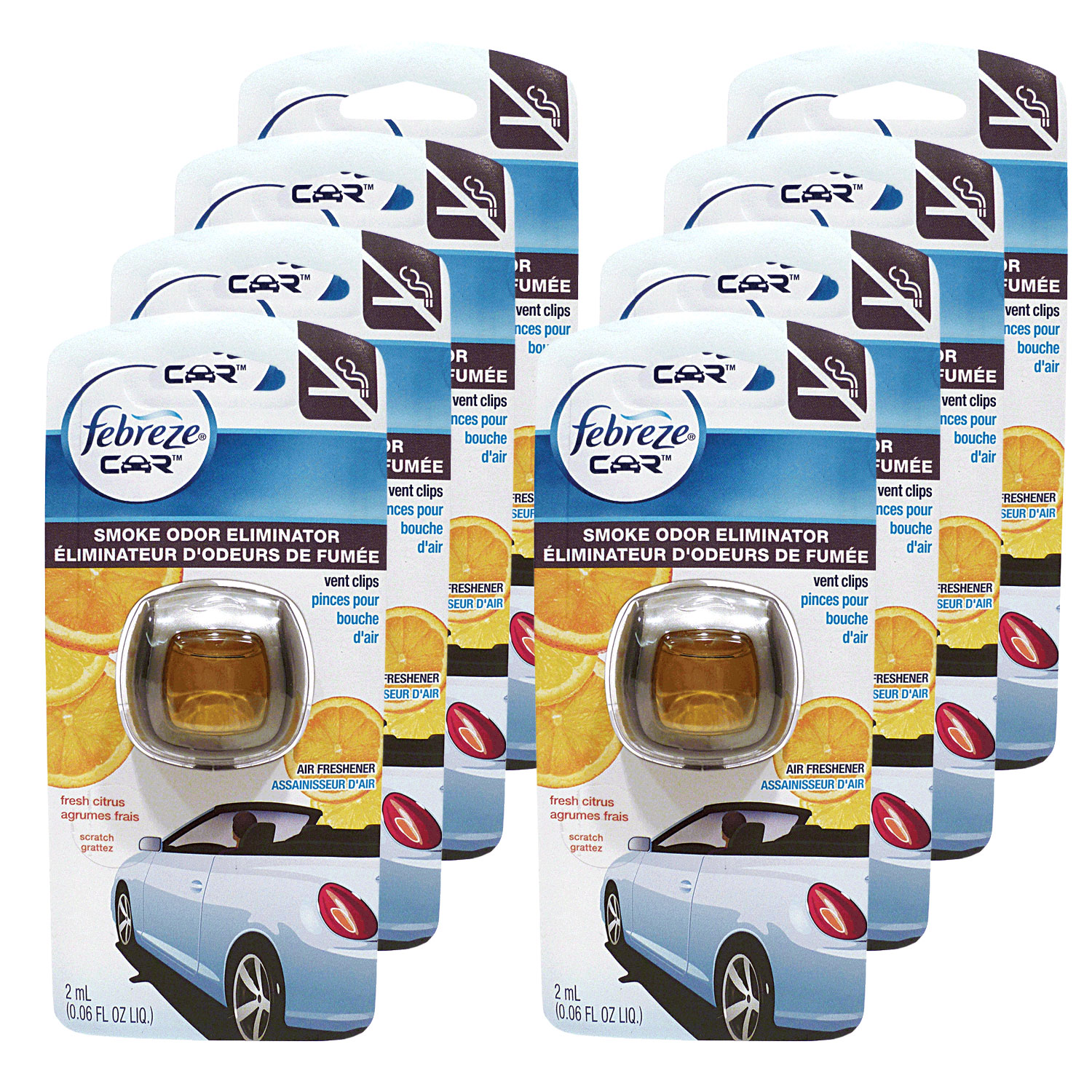 Febreze Car Vent Clips Air Freshener and Smoke Odor Elimi...