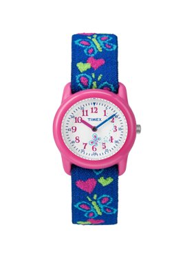 KIDS ANALOG BUTTERFLIES WATCH WITH ELASTIC FABRIC BAND