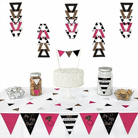Girls Night Out - Triangle Bachelorette Party Decoration Kit - 72 Pieces