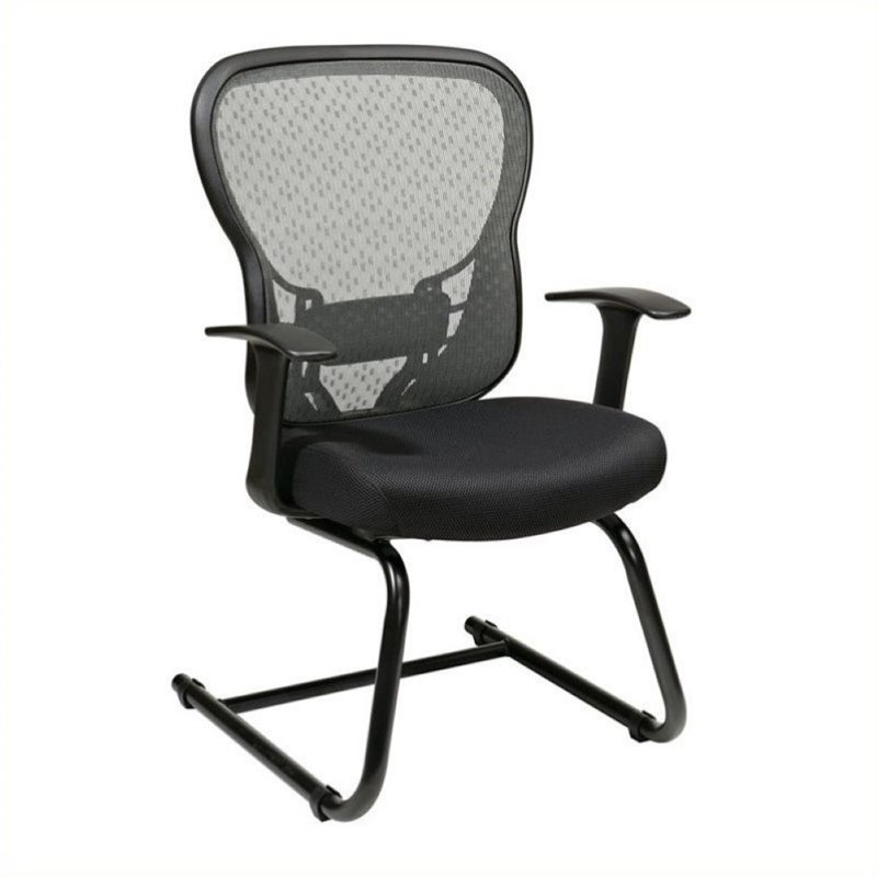 Scranton & Co Grid Back Visitors Office Chair in Black