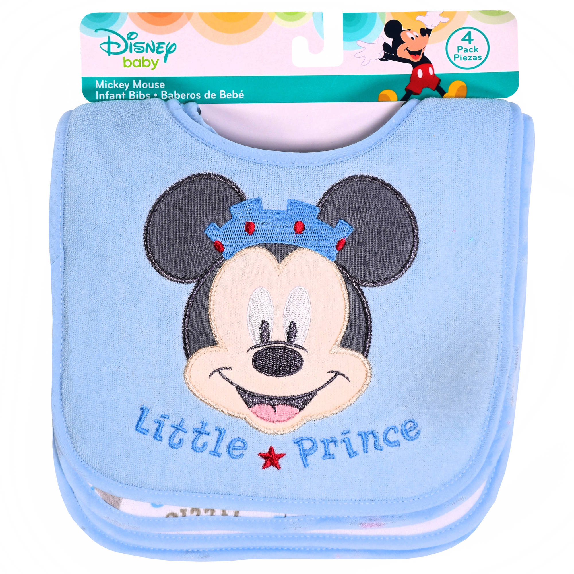 Disney Mickey Mouse Infant Bibs, Pack of 4