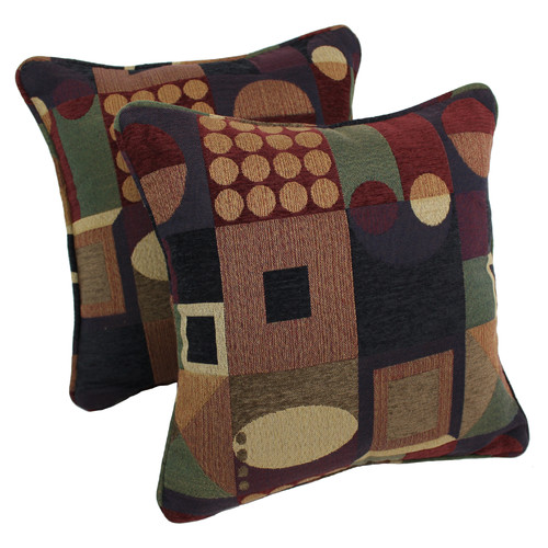 Blazing Needles Jaquard Chenille Throw Pillow (Set of 2)