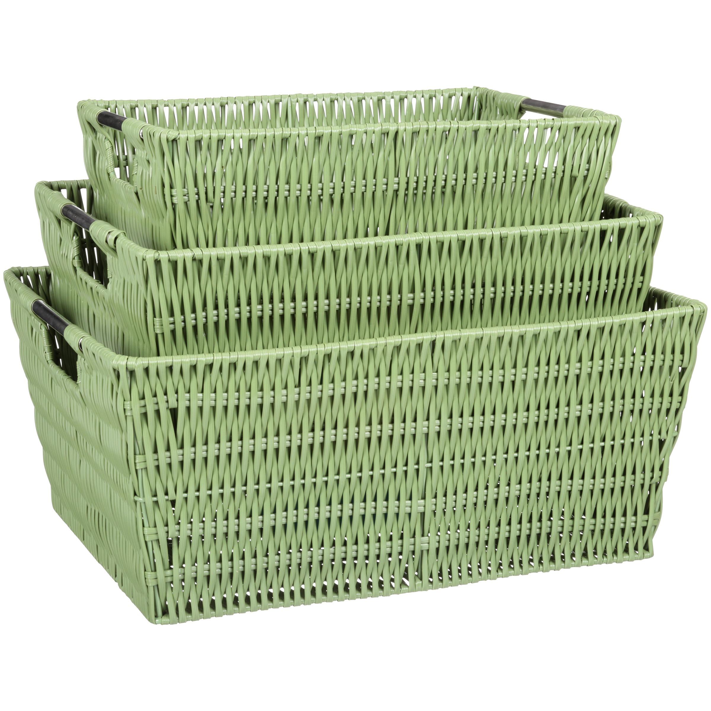 Whitmor Rattique 3 Piece Basket Set