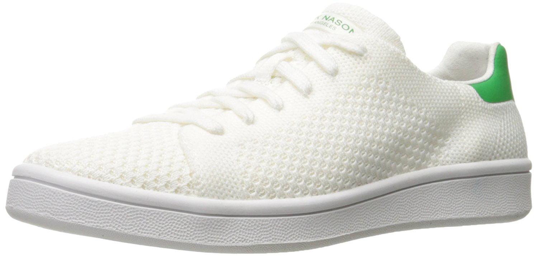 Mark Nason Los Angeles Women's Bradbury Fashion Sneaker, White/Green, 11 M US