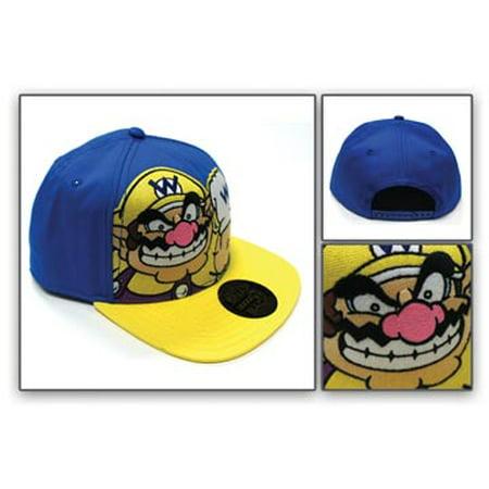 c0dbf7a405599 Super Mario - Baseball Cap - Nintendo - Wario Blue Snapback Cap Anime Hat  New 84300ntn - Walmart.com