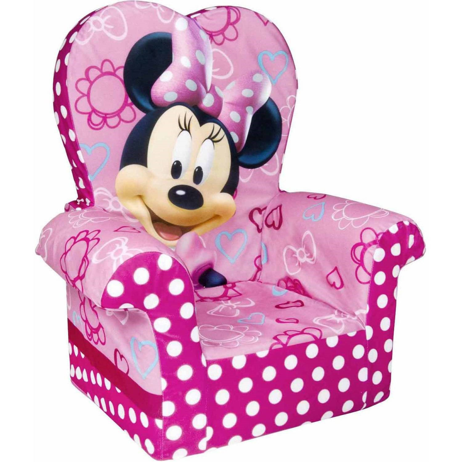 Marshmallow Minnie Mouse's Bow-Tique High Back Chair