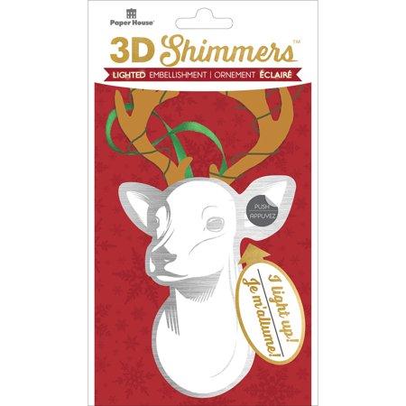 Paper House Led Shimmers Embellishment-Deer Head - image 1 de 1