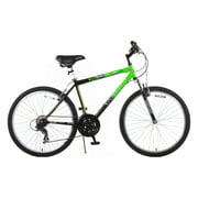 "26"" Trail 21-Speed Suspension Men's Mountain Bike, Green and Black"