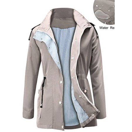 Women Hooded Outdoor Clothes Waterproof Lightweight Rain Coat Rain Jacket - image 2 de 3
