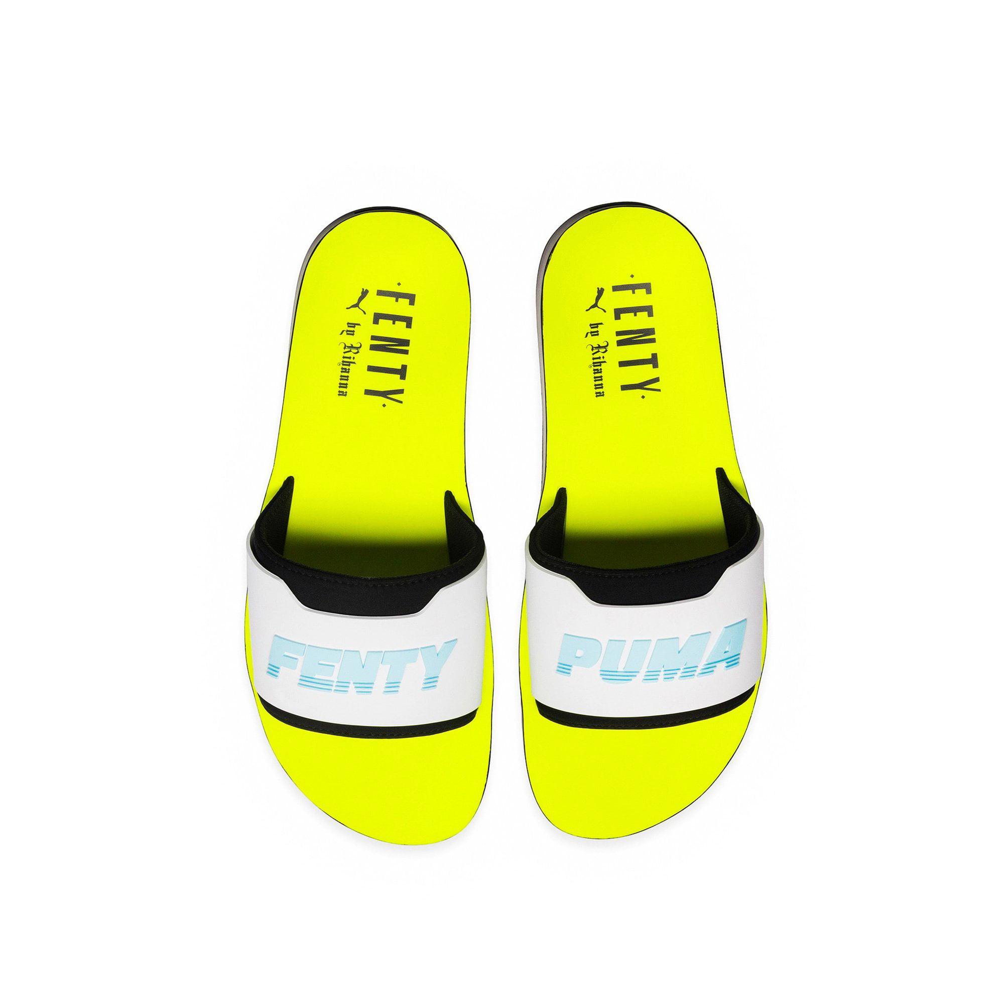 fenty puma slides yellow